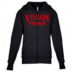 vegan things Youth Zipper Hoodie | Artistshot