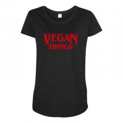 vegan things Maternity Scoop Neck T-shirt | Artistshot