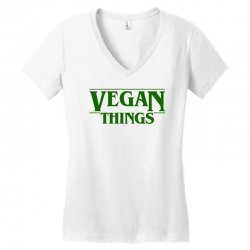 vegan things for light Women's V-Neck T-Shirt | Artistshot