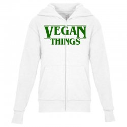 vegan things for light Youth Zipper Hoodie | Artistshot