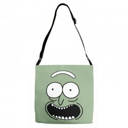 rick and morty pickle Adjustable Strap Totes | Artistshot