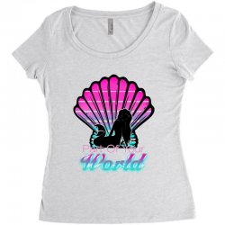 part of your world Women's Triblend Scoop T-shirt | Artistshot