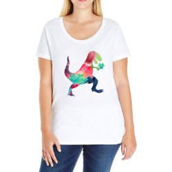 saint patricks t rex Ladies Curvy T-Shirt | Artistshot