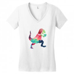 saint patricks t rex Women's V-Neck T-Shirt | Artistshot
