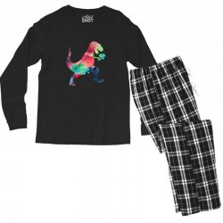 saint patricks t rex Men's Long Sleeve Pajama Set | Artistshot