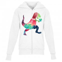 saint patricks t rex Youth Zipper Hoodie | Artistshot