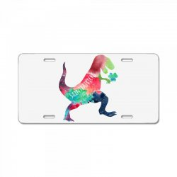 saint patricks t rex License Plate | Artistshot
