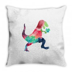 saint patricks t rex Throw Pillow | Artistshot