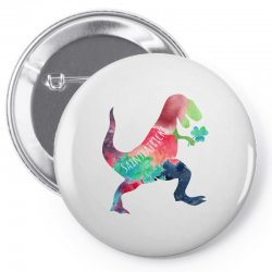 saint patricks t rex Pin-back button | Artistshot