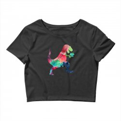 saint patricks t rex Crop Top | Artistshot