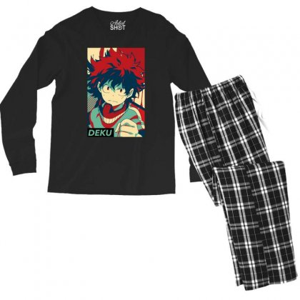 Deku My Hero Academia Men's Long Sleeve Pajama Set Designed By Sengul