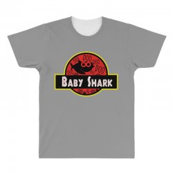 baby shark jurassic park parody All Over Men's T-shirt | Artistshot
