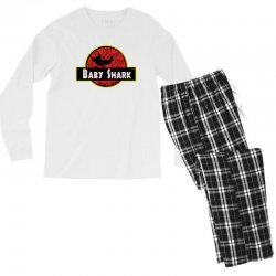 baby shark jurassic park parody Men's Long Sleeve Pajama Set | Artistshot