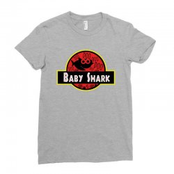 baby shark jurassic park parody Ladies Fitted T-Shirt | Artistshot
