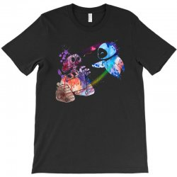 wall e and eve watercolor T-Shirt | Artistshot