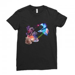 wall e and eve watercolor Ladies Fitted T-Shirt | Artistshot