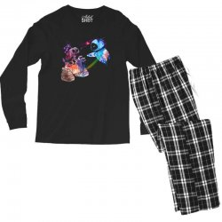 wall e and eve watercolor Men's Long Sleeve Pajama Set | Artistshot