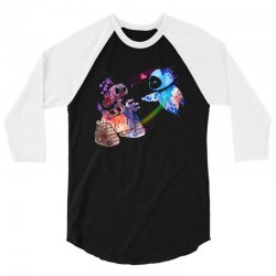 wall e and eve watercolor 3/4 Sleeve Shirt | Artistshot