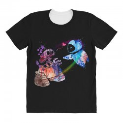 wall e and eve watercolor All Over Women's T-shirt | Artistshot