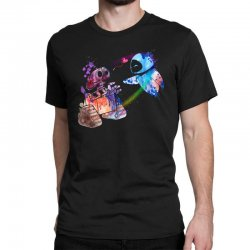 wall e and eve watercolor Classic T-shirt | Artistshot
