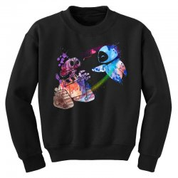 wall e and eve watercolor Youth Sweatshirt | Artistshot
