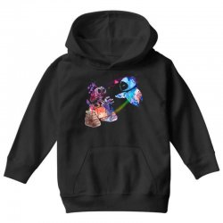 wall e and eve watercolor Youth Hoodie | Artistshot