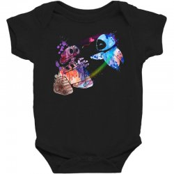 wall e and eve watercolor Baby Bodysuit | Artistshot