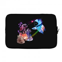 wall e and eve watercolor Laptop sleeve | Artistshot