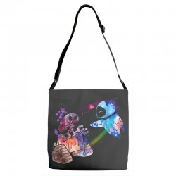 wall e and eve watercolor Adjustable Strap Totes | Artistshot
