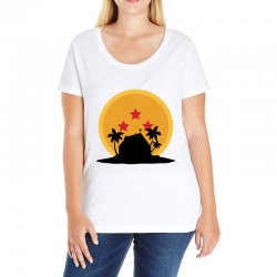 kame house for light Ladies Curvy T-Shirt | Artistshot