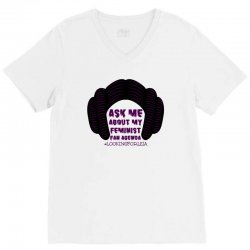 ask me about my feminist fan agenda looking for leia V-Neck Tee | Artistshot