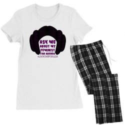 ask me about my feminist fan agenda looking for leia Women's Pajamas Set | Artistshot