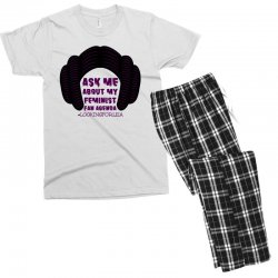 ask me about my feminist fan agenda looking for leia Men's T-shirt Pajama Set | Artistshot
