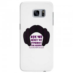 ask me about my feminist fan agenda looking for leia Samsung Galaxy S7 Edge Case | Artistshot