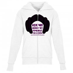 ask me about my feminist fan agenda looking for leia Youth Zipper Hoodie | Artistshot