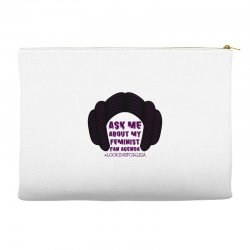 ask me about my feminist fan agenda looking for leia Accessory Pouches | Artistshot