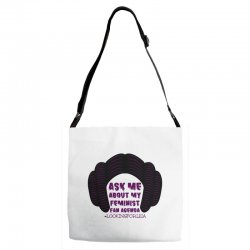 ask me about my feminist fan agenda looking for leia Adjustable Strap Totes | Artistshot