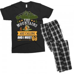 the mountains are calling Men's T-shirt Pajama Set | Artistshot