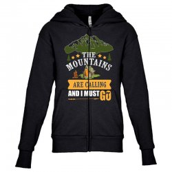 the mountains are calling Youth Zipper Hoodie | Artistshot