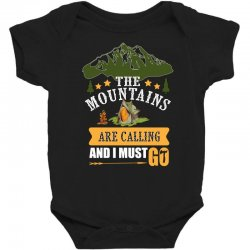 the mountains are calling Baby Bodysuit | Artistshot