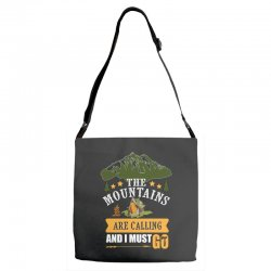 the mountains are calling Adjustable Strap Totes | Artistshot