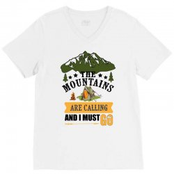 the mountains are calling V-Neck Tee | Artistshot