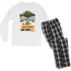 the mountains are calling Men's Long Sleeve Pajama Set | Artistshot