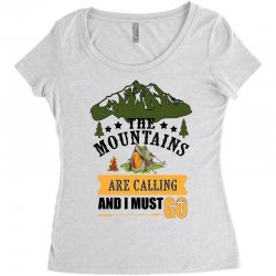 the mountains are calling Women's Triblend Scoop T-shirt | Artistshot