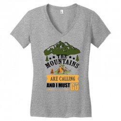 the mountains are calling Women's V-Neck T-Shirt | Artistshot