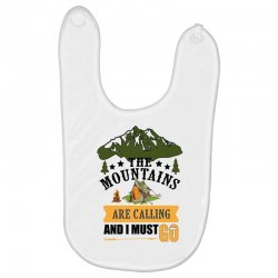 the mountains are calling Baby Bibs | Artistshot
