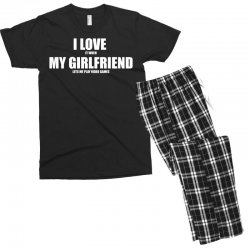 i love it when my girlfriend lets me play video games Men's T-shirt Pajama Set | Artistshot