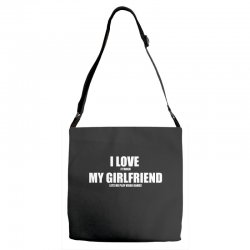 i love it when my girlfriend lets me play video games Adjustable Strap Totes | Artistshot