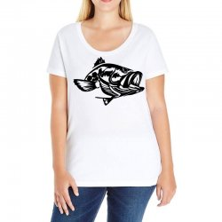 predator bass fish Ladies Curvy T-Shirt | Artistshot