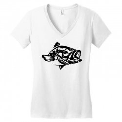 predator bass fish Women's V-Neck T-Shirt | Artistshot